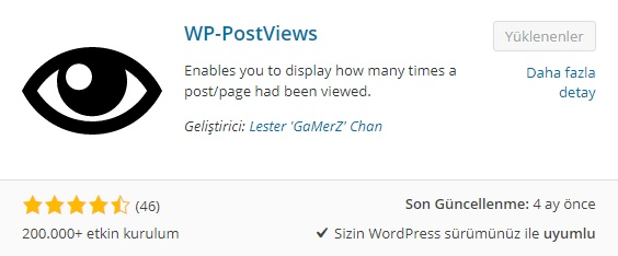 WP-Postviews Eklentisi İncelemesi