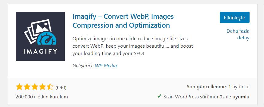 Imagify WordPress Resim Sıkıştırma Eklentisi