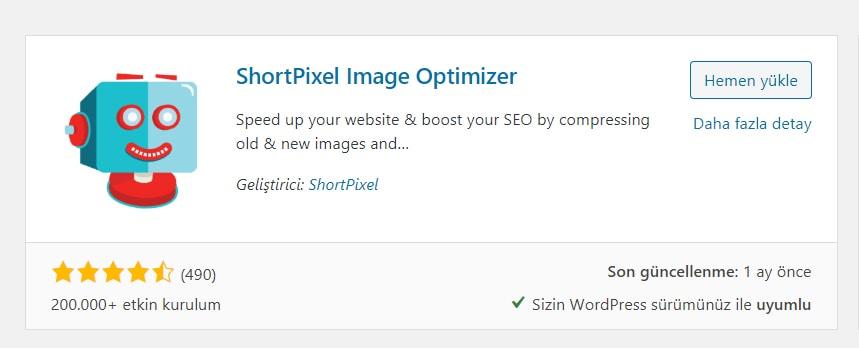 ShortPixel WordPress Resim Sıkıştırma Eklentisi